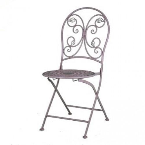 ghế cafe chân sắt đầu rèn