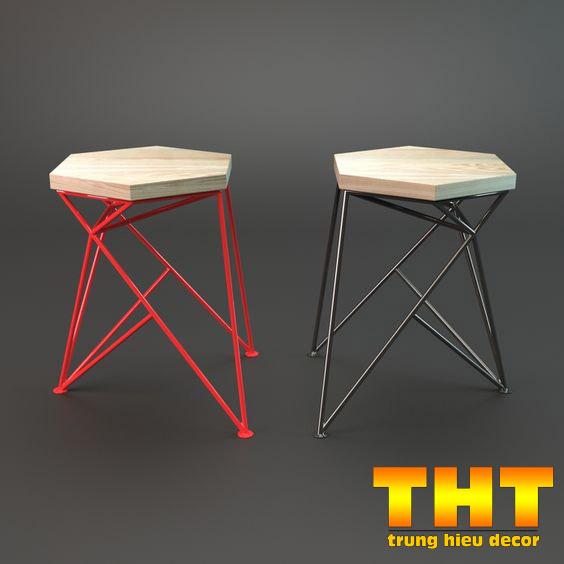 ghế sắt trà sữa