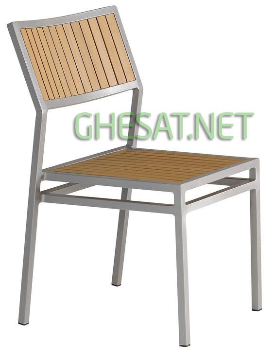 ghế sắt ốp gỗ