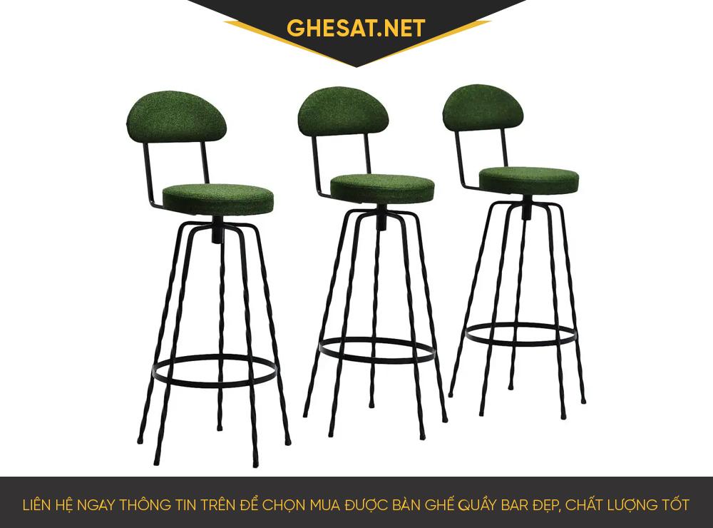Liên hệ ngay thông tin trên để chọn mua được bàn ghế quầy bar đẹp, chất lượng tốt